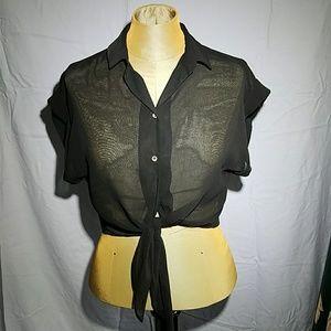 NWT River Island Cropped collar blouse sz Sm